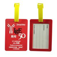 Quality Anniversary Souvenir Soft PVC Luggage Tag Travel Bag Labels Baggage Handbag ID Tag Suitcase Tag Name Card Holder for sale
