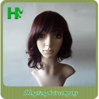China Curly Wave 10 Inch Full Lace Human Hair Wigs With Baby Hair on sale