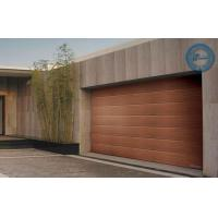 Quality Wooden Sleek Sectional Garage Door Stripes Panel Steel Work for sale