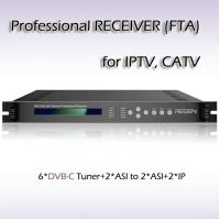 Quality IPTV IRD Six-Channel DVB-C Tuner Professional Receiver iptv streaming output RFR1206 for sale