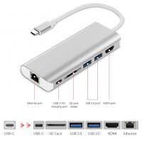 Quality USB-C Hub 6 in 1 USB C Adapter with Type-C Charging Port 4K HDMI Output 2 USB 3.0 SD Card Reader for MACBOOK PRO for sale