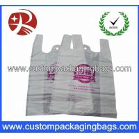Quality Color printed Plastic Biodegradable bags with Side gusset vest handle shopping bag for sale