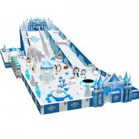 Quality snow theme plastic kids indoor play structure with various games for sale
