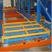Quality Industrial Push Back Pallet Rack System Powder Coating Or Galvanized ISO9001 for sale