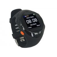 Quality SOS Black Smart GPS Tracking Watch GSM Real-time For Personal Security for sale