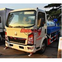 Quality 3 - 5 Ton Water Tanker Truck Hydraulic Steering Two Axle ZZ5073 Chassis for sale