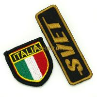 Quality Embroidered Iron On Patches For Clothes , Single Custom Embroidered Patches for sale