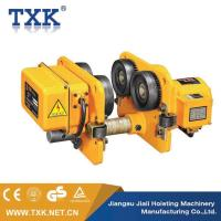 China Yellow Hand Manual I Beam Trolley Hoist , Light Weight Electric Beam Trolley With Mini Electric Wire Rope on sale