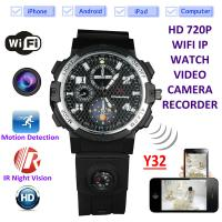 Quality Y32 32GB 720P WIFI IP Spy Watch Camera Wireless Remote CCTV Video Monitor IR Night Vision Home Security Nanny Camera for sale