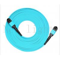 China MPO-MPO  blue color multi mode PVC/LSZH  patch cord 10 meters length on sale