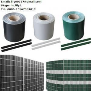 Quality 100% UV resistance 35 m x 19 cm 450g/m2 Stein-Optik PVC sichtschutzfolie sichtschutzstreifen with 20 clips for sale