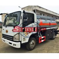 Buy cheap 3 - 5cbm Refuel Oil Tanker Truck FAW TIGER V Chassis Series 7 Tons GVW from wholesalers