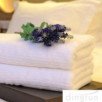 Quality White Color Luxury Pure Cotton Bath Towels Home / Hotel Use Soft Touch Azo Free for sale