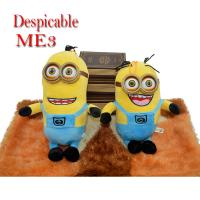 Quality Factory directly sale 3D eyes plush toys minions / minion toys  with clothes for shopping mall for sale