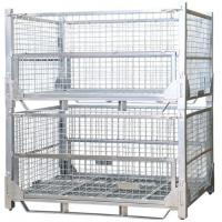 Quality Transport Industry Steel Mesh Storage Cages Galvanized Surface Finished for sale