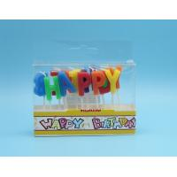 Quality Alphabet Individual Letter Candles For Birthday Cakes With Paraffin Wax Material for sale
