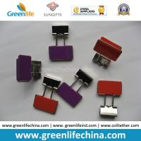 Quality Colorful Rectangle Plastic Handle Binder Clips Ready for Company Logo for sale