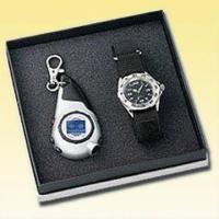 Buy Watch Gift Set with Timer Keychain Torch at wholesale prices