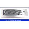 Best 86 keys dust-proof metal industrial computer desktop keyboard with trackball MKB-F86-TB-DT wholesale