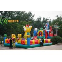 Quality Outdoor Water Proof Inflatable Fun City Jumper / Backyard Bounce Fun City With Slide for sale