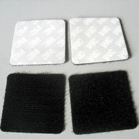 China 3M adhesive backed strong sticky  velcro squares on sale