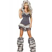 Quality Womens Captain California adult halloween costumes , Indian fancy dress costumes for sale