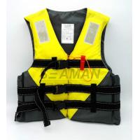 Quality Jetski Yellow Color Water Sports Leisure Life Jacket Flotation Adult Life Vest for sale