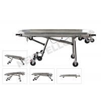 Quality Stainless Steel Automatic Loading Funeral Stretcher Trolley With Detachable Tray for sale