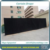 China Good quality black velvet fabric drapes for event stage curtain backdrop curtain stage decoration for sale on sale
