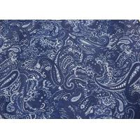 Quality Blue Printed Apparel Fabric , Fashion Print Fabric Raw Materials for sale