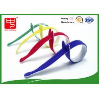 Quality Multi Colored Velcro Cable Ties Roll , Hook & Loop Fastening Cable Ties T Shape for sale