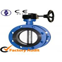 Quality ANSI / AWWA Wafer Single Flange Rubber Lined Butterfly Valve DN 50 DN 200 for sale