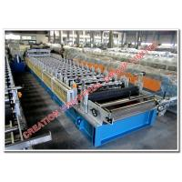 Quality Corrugated Steel and Aluminium Roof Tile Roll Forming Machine with 7.5KW Driving Motor and 5.5KW Step Presser for sale
