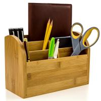 China Desk Organizer Caddy for Office Supplies Pen Holder & Desk Accessories	Bamboo Office Supplies on sale
