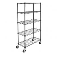 Quality Chrome Plated Metal Shelving Unit With Wheels 4'' For Bedroom Display for sale