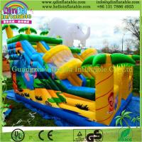 China Outdoor splash inflatable water slides for kids/inflatable slide for pool/plastic slide on sale