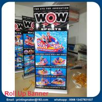 Quality Wide Base Aluminum Roll Up Stand with Printing for sale