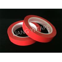 Quality Heat Resistance Red Polyester Mylar Tape For Wrapping Coils / Capacitors / Wire Harnesses for sale