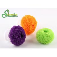 Quality Spiral wire plastic scourer fiber ball for kitchen washing/bathroom cleaning for sale