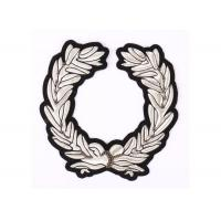 China Olive Branch Shape Bullion Wire Badges Shoulder  Embroidered Police Badges on sale