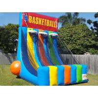 China 0.55 PVC Tarpaulin Inflatable Interactive Games Giant Inflatable Basketball Hoop on sale