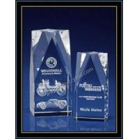 China Laser Engraved Crystal Block Club Souvenir Gift on sale