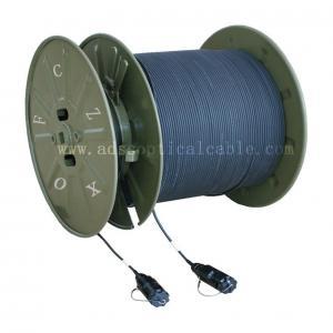 Quality Military Telecommunications GJFJU Armored OFNR Fiber Optic Cable for sale