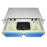 Quality 24 48 96 Ports Dustproof LC SC 19' Rack Mount Fiber Terminal Box Enclosure Fiber Distribution Patch Panel for sale