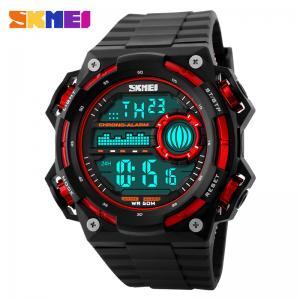 Quality Multifunction Chrono Alarm Clock Watch / Luxury Sport Watches Reloj 50m Deep Waterproof for sale