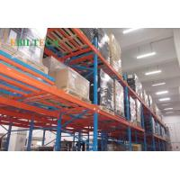 Quality Steel Push Back Pallet Racking  Corrosion Protection Blue Orange Color Powder Coated for sale