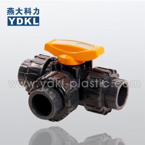 China Pvc 3 way ball valve on sale