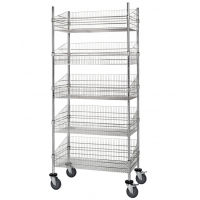 Quality Mobile 400-600lbs Commercial Wire Shelving Unit For Dry Stores for sale