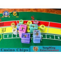 Quality Customized Color 13.56Mhz Rfid Poker Chips Cricular Code 45 / 50 / 55mm for sale