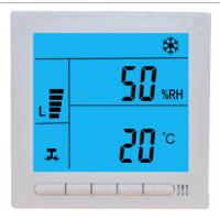 Quality Large LCD Digital Fcu Thermostat / Temperature Humidity Thermostat Wired Controller for sale